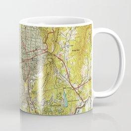 Vintage Map of Asheville North Carolina (1943) Coffee Mug