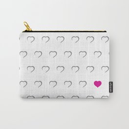 Hearts - Pink Carry-All Pouch