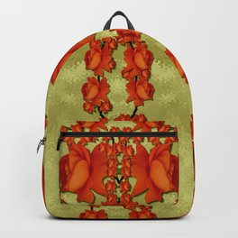 roses decorative in the golden environment Backpack