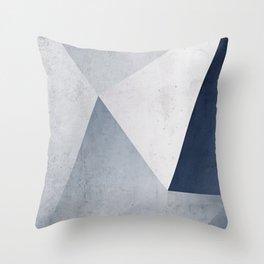 Indigo Minimal Geometry Throw Pillow