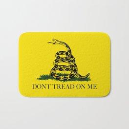 Gadsden Don't Tread On Me Flag - Authentic version Bath Mat