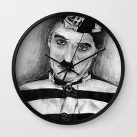 chaplin Wall Clocks featuring Chaplin by D.E.Pérez