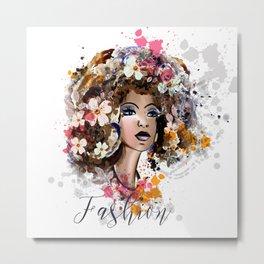 Tropical beauty. Fashion illustration Metal Print