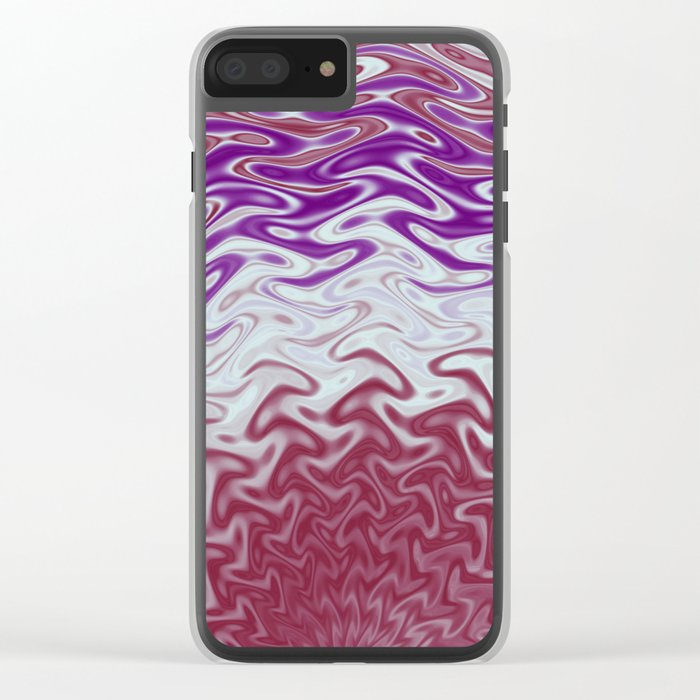 Fractal Rise in Pinks and Purples Clear iPhone Case