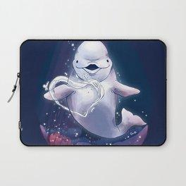 Beluga Whale Blow Kiss Laptop Sleeve
