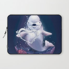 Beluga Whale Blow Kiss Laptop Sleeve
