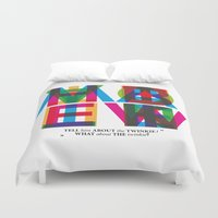 """ghostbusters Duvet Covers featuring Ghostbusters """"tell him about the twinkie"""" by Jan Wurtmann"""