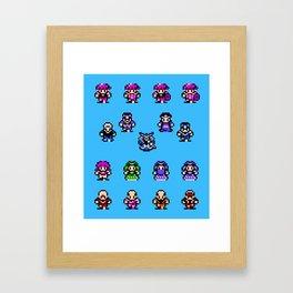 God Slayer Famicom Framed Art Print