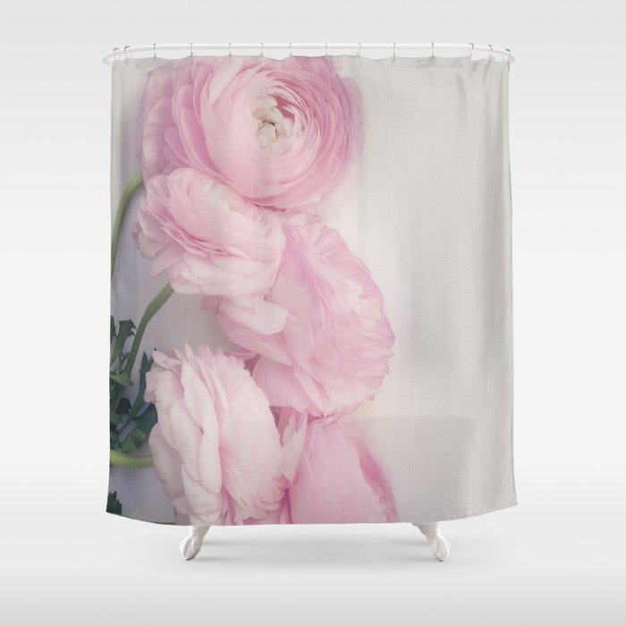 Pink Peonies Shower Curtain By Mariaheyens