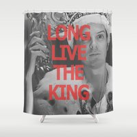 moriarty Shower Curtains featuring Long Live the King / Moriarty / I by Earl of Grey