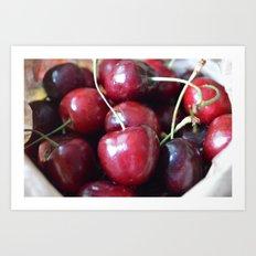 The cherry on top Art Print