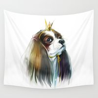 queen Wall Tapestries featuring queen by tatiana-teni