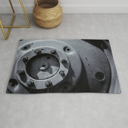 Wheel Bolts in Metal Rug