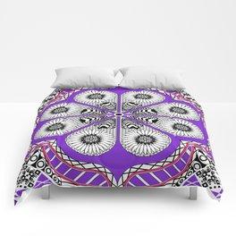 Totonaca mexican flower Comforters
