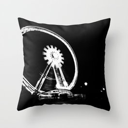 Spinning the Wheel. Throw Pillow