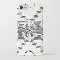 gatsby iPhone & iPod Cases featuring Gatsby Mandala by HRE.