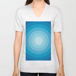 Blue Unisex V-Neck