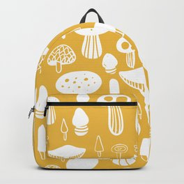 Forest Mushrooms Yellow Backpack