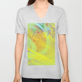 Soothing - Abstract yellow painting Unisex V-Neck