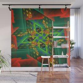 Digital Illusion Wall Mural