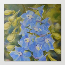 Delicate Delphinium Canvas Print