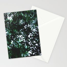 Tops of the leaves of trees silhouettes Stationery Cards