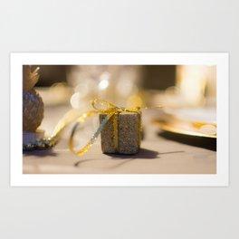 Gold gift Art Print