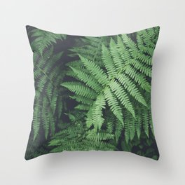 Fern Bush Nature Photography | Botanical | Plants Throw Pillow