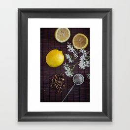 Lemon and tea Framed Art Print