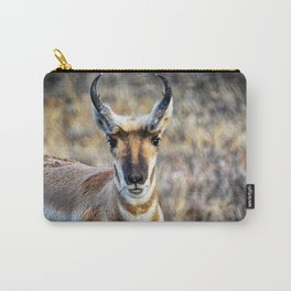 The Face Of A Pronghorn Buck Carry-All Pouch