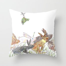 Defeating the fable Throw Pillow