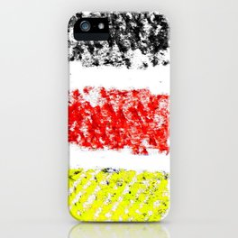 Flag of Germany 3-chalk version iPhone Case