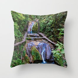 Valley of 33 waterfalls Throw Pillow