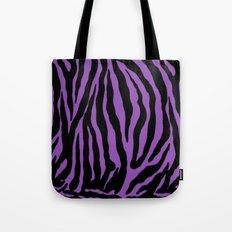 Purple Zebra Background Tote Bag