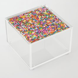 Rainbow Sprinkles Sweet Candy Colorful Acrylic Box