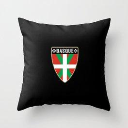 Basque Country Shield Throw Pillow