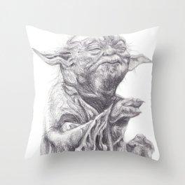 Yoda sketch Throw Pillow