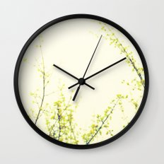 Her Thoughts Were Like Flowers Floating to the Sky Wall Clock