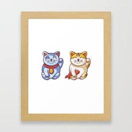 Lucky Cats Framed Art Print