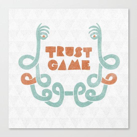 Trust Game. Canvas Print