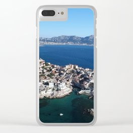 Marseille, France, port in Europe, aerial Clear iPhone Case