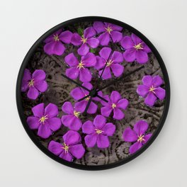 PEPPER AND FLOWERS Wall Clock