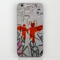 super heroes iPhone & iPod Skins featuring Super Heroes by Mauricio Santana