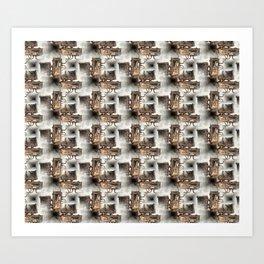 Battery Mishler Power Hoist lower section pattern Art Print