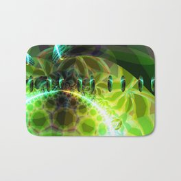 Dawn of Time – Abstract Lime & Gold Emerge Bath Mat