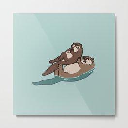 Acroyoga Otter Metal Print