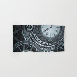 Silver Steampunk Clockwork Hand & Bath Towel