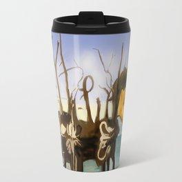 Swans and Elephants Travel Mug