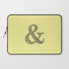 Yellow Ampersand Laptop Sleeve