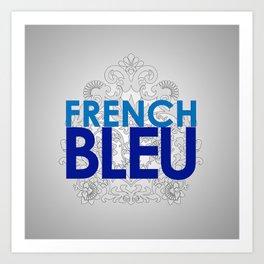 French Blue Logo Art Print